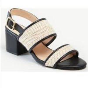 Ann Taylor block heel sling back sandal